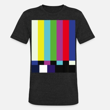 Screen This is a TV Test | Retro Television Broadcast - Unisex Tri-Blend T-Shirt