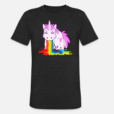 Vomiting I Puke Rainbows - Unisex Tri-Blend T-Shirt