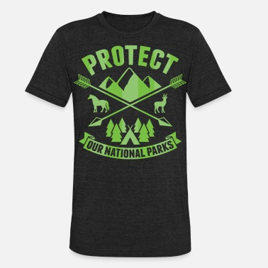 National Park National Park Protect our National Parks - Unisex Tri-Blend T-Shirt