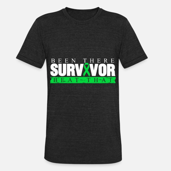 Birthday T-Shirts - Cancer defeats motivation gift disease - Unisex Tri-Blend T-Shirt heather black