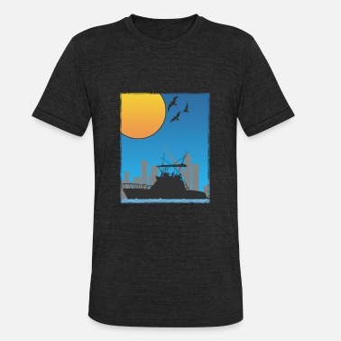 Harbor Port Of Hamburg Harbor gift harbor town - Unisex Tri-Blend T-Shirt