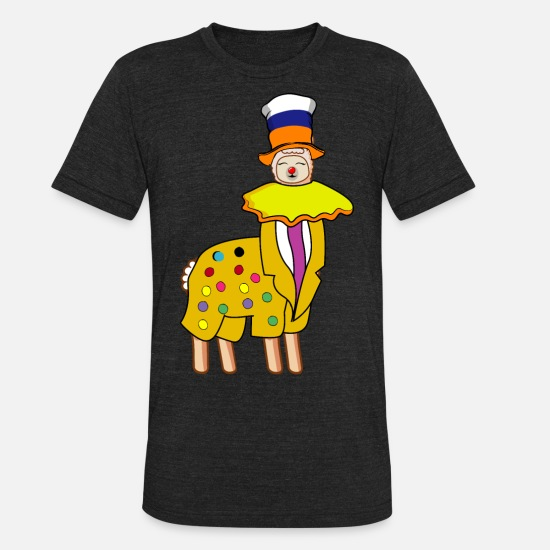 Carnival T-Shirts - Lama clown carnival costume carnival gift - Unisex Tri-Blend T-Shirt heather black