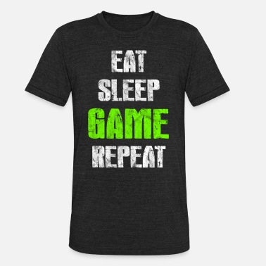 Travel Eat Sleep Gamer Repeat - Unisex Tri-Blend T-Shirt