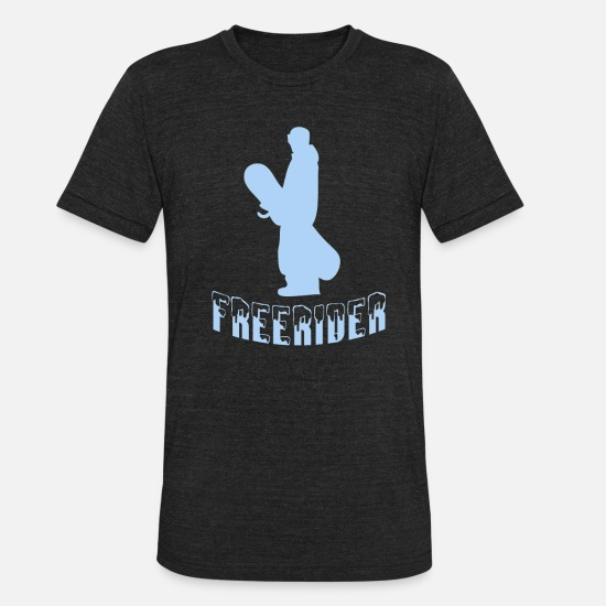 Freestyle T-Shirts - Snowboarder snowboarding freerider snow - Unisex Tri-Blend T-Shirt heather black
