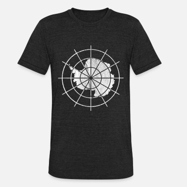 Treaty Vintage Antarctica Treaty Badge - Unisex Tri-Blend T-Shirt