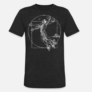 Da Vinci Da Vinci Vitruvian man basketball shirt for sport - Unisex Tri-Blend T-Shirt