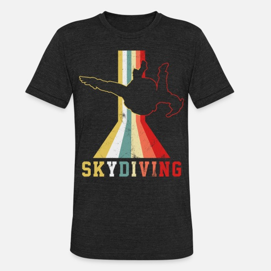 Adventure T-Shirts - Skydiving Skydive - Unisex Tri-Blend T-Shirt heather black