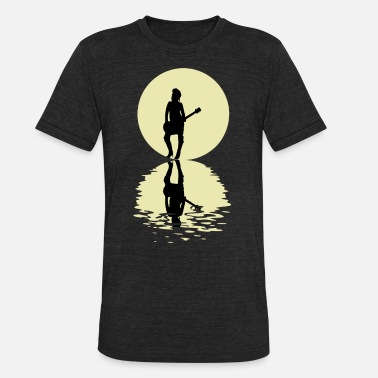 Musician The Musician And The Moon - Unisex Tri-Blend T-Shirt