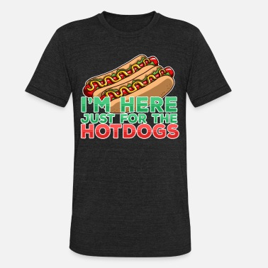 Chilly Hot Dog And Bun I Love Hotdogs Fast Food Gift - Unisex Tri-Blend T-Shirt