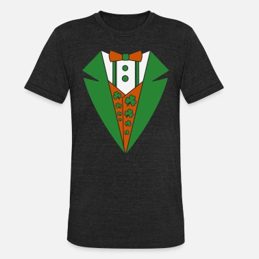 Irish Tuxedo Tuxedo Irish Costume - Unisex Tri-Blend T-Shirt