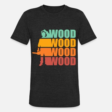 Chain LOGGER LUMBERJACK GIFT CHAIN SAW FOREST WOOD AX - Unisex Tri-Blend T-Shirt