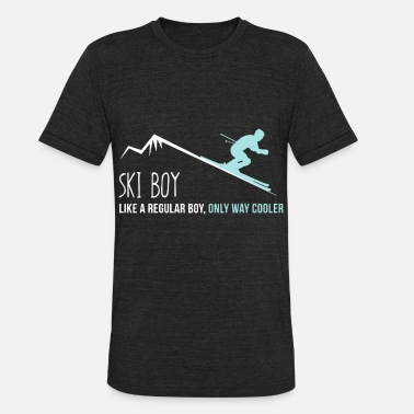 Ski Couple ski boy like a regular boy game t shirts - Unisex Tri-Blend T-Shirt
