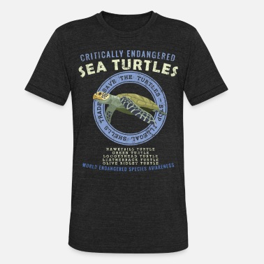 Turtles Save The Sea Turtles - Endangered Species Awarenes - Unisex Tri-Blend T-Shirt