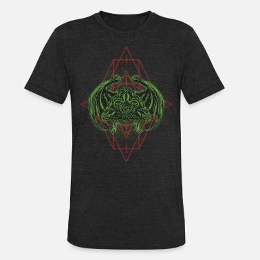Dark Horror the idol cthulhu dark green variant horror - Unisex Tri-Blend T-Shirt