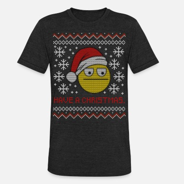 Knit Have A Christmas Ugly Christmas Sweater Knit - Unisex Tri-Blend T-Shirt