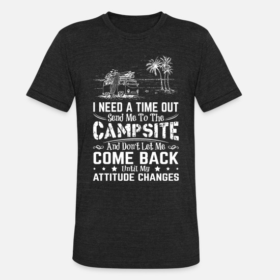 Camping T-Shirts - Funny camping shirts for family - Unisex Tri-Blend T-Shirt heather black