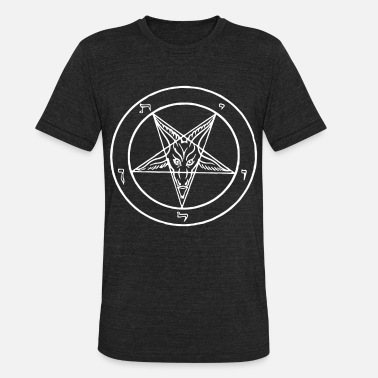 Anti Christ Baphomet Vest Satan Devil Devil Anti Christ Witch - Unisex Tri-Blend T-Shirt