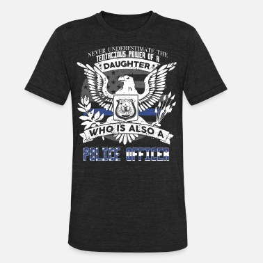 Future Police Officer Daughter Police Officer - Unisex Tri-Blend T-Shirt