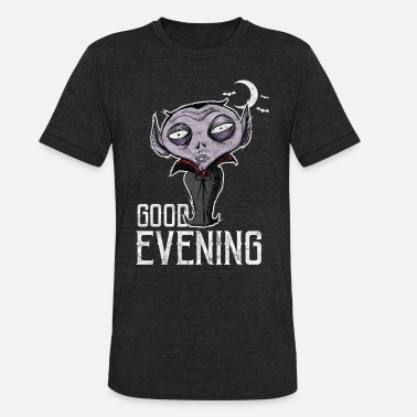 Good Evening Halloween - Good Evening Dracula - Unisex Tri-Blend T-Shirt