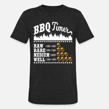 42cd6e350 Pitmaster BBQ Timer Barbecue Funny Beer Drinking Grilling - Unisex  Tri-Blend T-Shirt