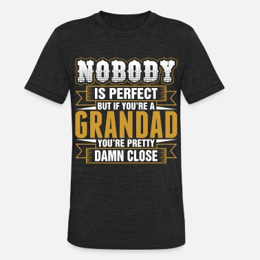 Perfect Nobody Is Perfect But If Youre A Grandad Tshirt - Unisex Tri-Blend T-Shirt