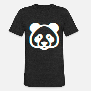 Neon Trance Psychedelic Bear Gift Psy Trance Music Trippy - Unisex Tri-Blend T-Shirt