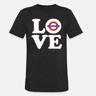 London Underground LOVE Underground - Unisex Tri-Blend T-Shirt