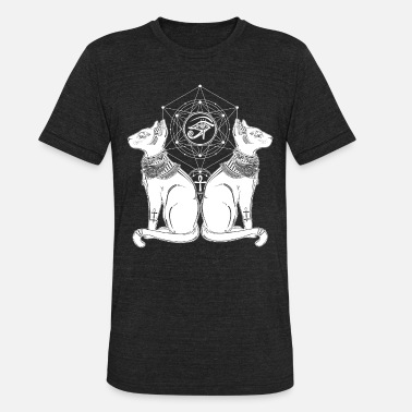 Ancient Egypt Cats Ancient Egyptian Cats - Unisex Tri-Blend T-Shirt