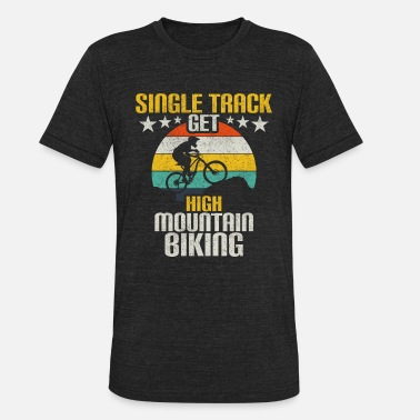 Mountain Bike Grandpa Mountain bike mountains hill bike gift - Unisex Tri-Blend T-Shirt