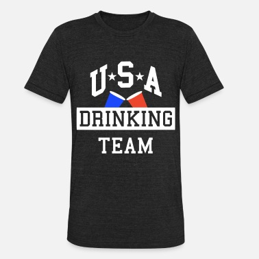 Usa-drinking-team USA Drinking Team Party - Unisex Tri-Blend T-Shirt