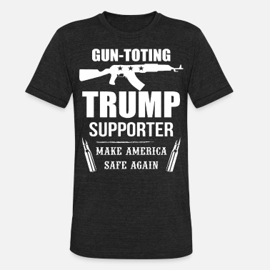 Amendment Donald Trump President Pro Guns 2Nd Amendment Grea - Unisex Tri-Blend T-Shirt
