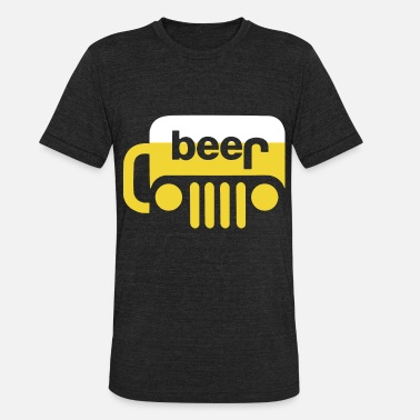 Wave beer jeep t shirts - Unisex Tri-Blend T-Shirt