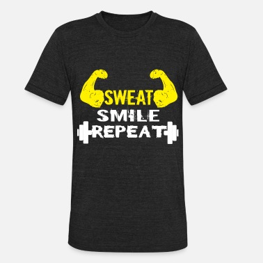 Fit Biceps fitness biceps yellow present - Unisex Tri-Blend T-Shirt