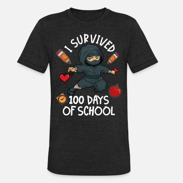 100 Days Of School Ninja - Unisex Tri-Blend T-Shirt
