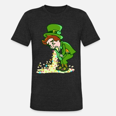 Charm St Patricks Day Leprechaun Puking Lucky Charms - Unisex Tri-Blend T-Shirt