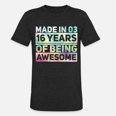 Sixteen Sweet Sixteen Birthday Party Gift I Custom Sweet - Unisex Tri-Blend T-Shirt