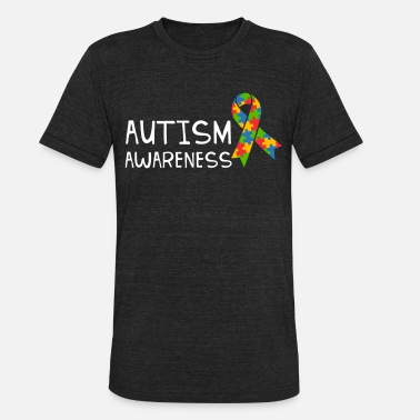 Autism Team Autism Awareness Day Shirt Autism Ribbon Tee Gift - Unisex Tri-Blend T-Shirt