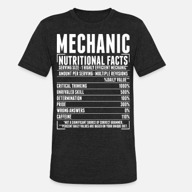 b42eef18 Mechanic Nutritional Facts Tshirt Unisex Poly Cotton T-Shirt ...