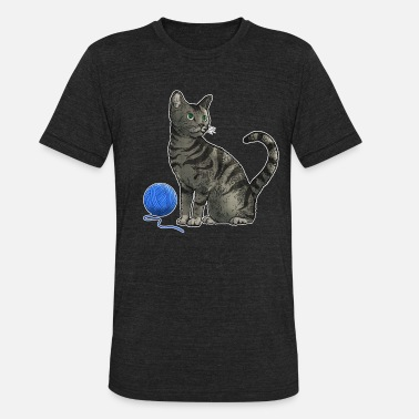 Thread Cat and a Thread - Unisex Tri-Blend T-Shirt