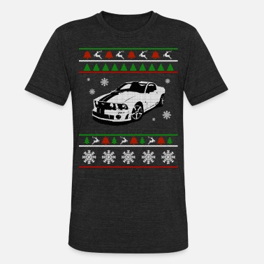 Ugly Sports Sport car Ugly Christmas Sweater - Unisex Tri-Blend T-Shirt