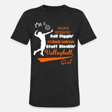 Porn Volleyball Volleyball - I'm a staff blocking volleyball gir - Unisex Tri-Blend T-Shirt