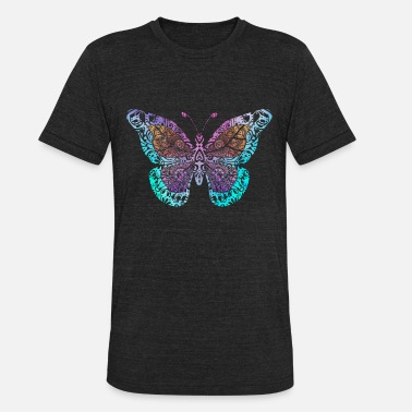 Mandala Drawing Butterfly Mandala drawing - Unisex Tri-Blend T-Shirt