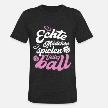 Volleyball Quote Funny german quote about Volleyball volleyball - Unisex Tri-Blend T-Shirt