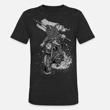 Vintage Motorcycle Winya No. 91 - Unisex Tri-Blend T-Shirt