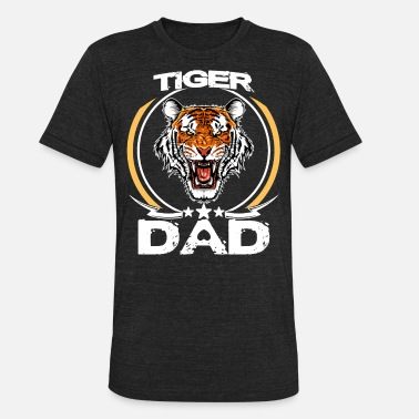 Cute Tiger Tiger Dad Shirt For Fathers Day Gift Roaring Tiger - Unisex Tri-Blend T-Shirt