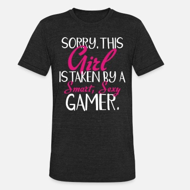 Playstation Controller Sorry, this girl is taken by a smart, sexy gamer - Unisex Tri-Blend T-Shirt