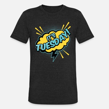 36f5962f6 Days Of The Week It's Tuesday Vintage Days of the Week Gift. Unisex  Tri-Blend T-Shirt