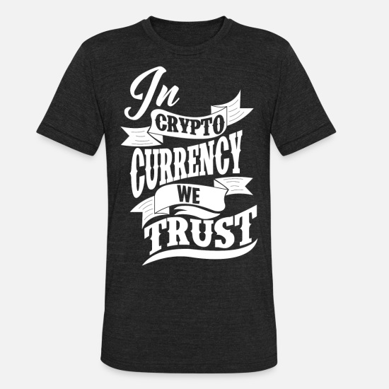 Cryptocurrency T-Shirts - Cryptocurrency - Unisex Tri-Blend T-Shirt heather black