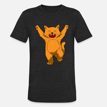 Jubilation Jubilation Cat Dance Emote Funny Gift - Unisex Tri-Blend T-Shirt