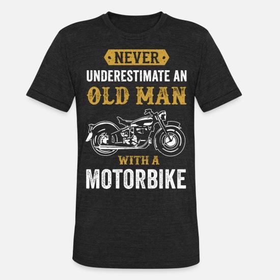 1cd17326b6 Motorcycle T-Shirts - Old Man Dad Grandpa present Motorbike Chopper gift -  Unisex Tri